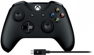 Microsoft Xbox One draadloze controller (V2) + kabel voor Windows Zwart