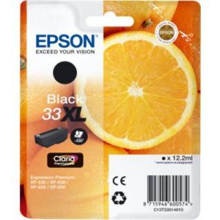 Epson 33XL zwart - sinaasappel