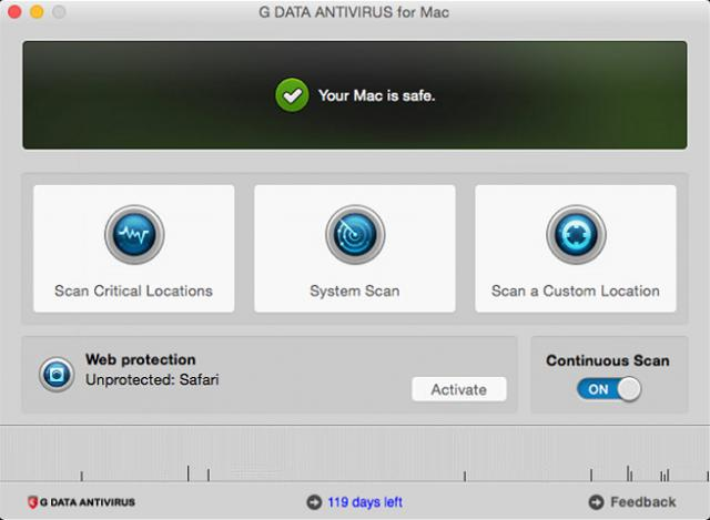 G Data AntiVirus for Mac 5 G Data AntiVirus for Mac 5